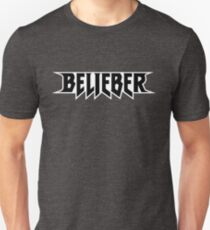 Belieber Dark Icon Light Outline Unisex T-Shirt