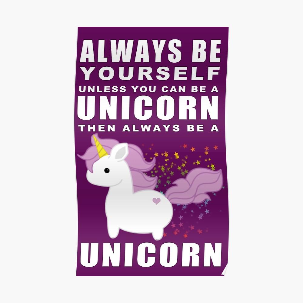 Siempre - Unicornio Póster