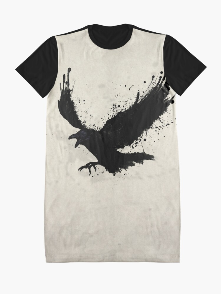 Alternate view of Raven Graphic T-Shirt Dress