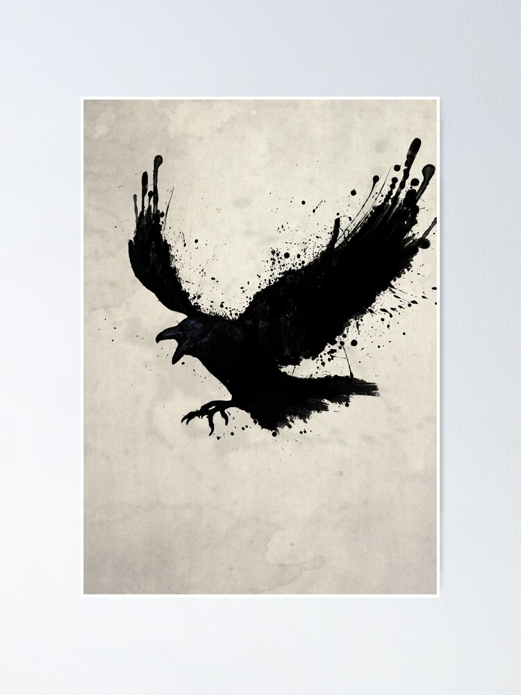 Alternate view of Raven Poster
