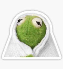 Cozy Kermit Sticker