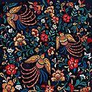 «Patrón clásico pavo real aves» de craftipixel