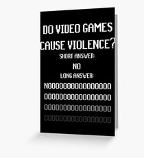 Video Game Violence Greeting Card