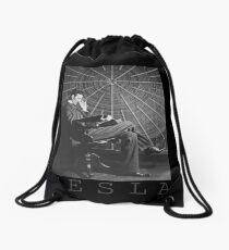 Nikola Tesla Drawstring Bag