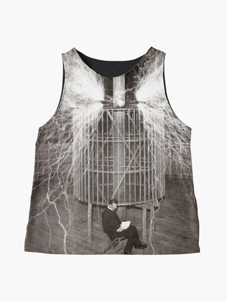 Alternative Ansicht von Nikola Tesla Ärmelloses Top