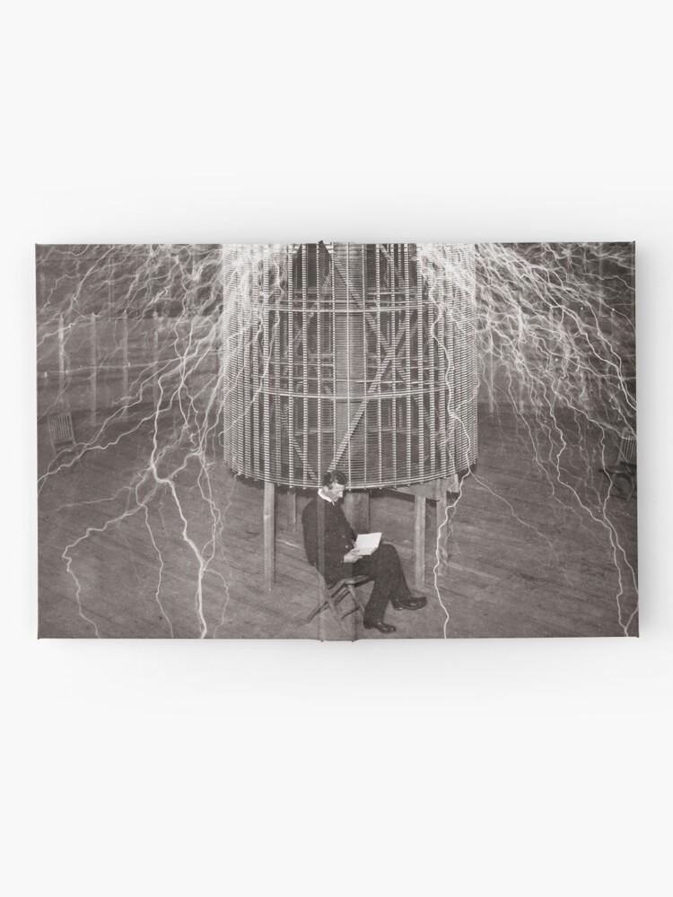 Alternative Ansicht von Nikola Tesla Notizbuch