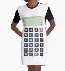 Calculator Graphic T-Shirt Dress