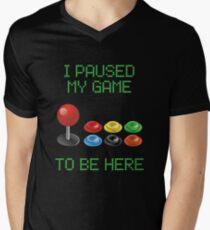 Retro gamer arcade video games   Men's V-Neck T-Shirt