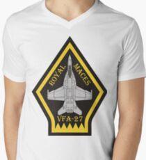 F/A-18 VFA-27 Royal Maces Men's V-Neck T-Shirt