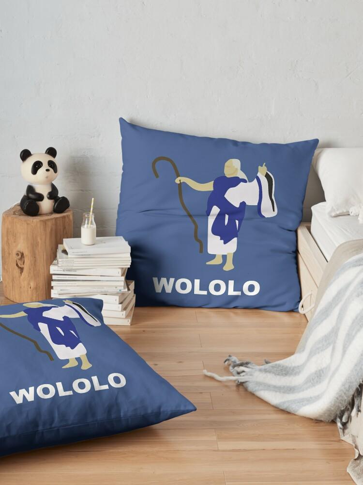 Alternative Ansicht von Wololo (blau) Bodenkissen
