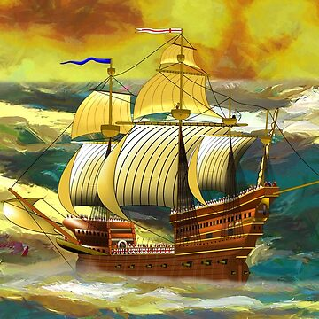 The 19th century Mary Rose, Henry VIII's Main Battleship, in it's Heyday by ZipaC