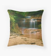 Buttermilk - Upper Falls, Ithaca, NY Throw Pillow