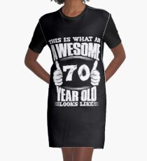 This Is What An Awesome 70 Year Old Looks Like Number 1938 Birthday  Graphic T-Shirt Dress