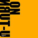 NO U-TURN sign off by MAGDALENE CARMEN