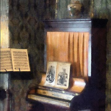 Piano and Sheet Music on Stand by SudaP0408