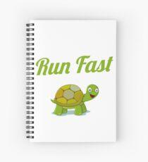 Cuaderno de espiral Ejecuta la aptitud rápida de la tortuga