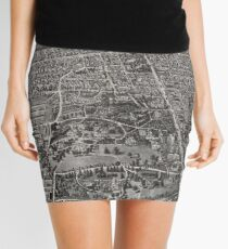 Vintage Pictorial Map of Manchester CT (1914) Mini Skirt