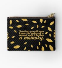 "Sometimes you will... ""Dr. Seuss"" Inspirational Quote (Creative) Studio Pouch"