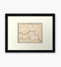 Vintage Map of Lake Superior (1832) Framed Print