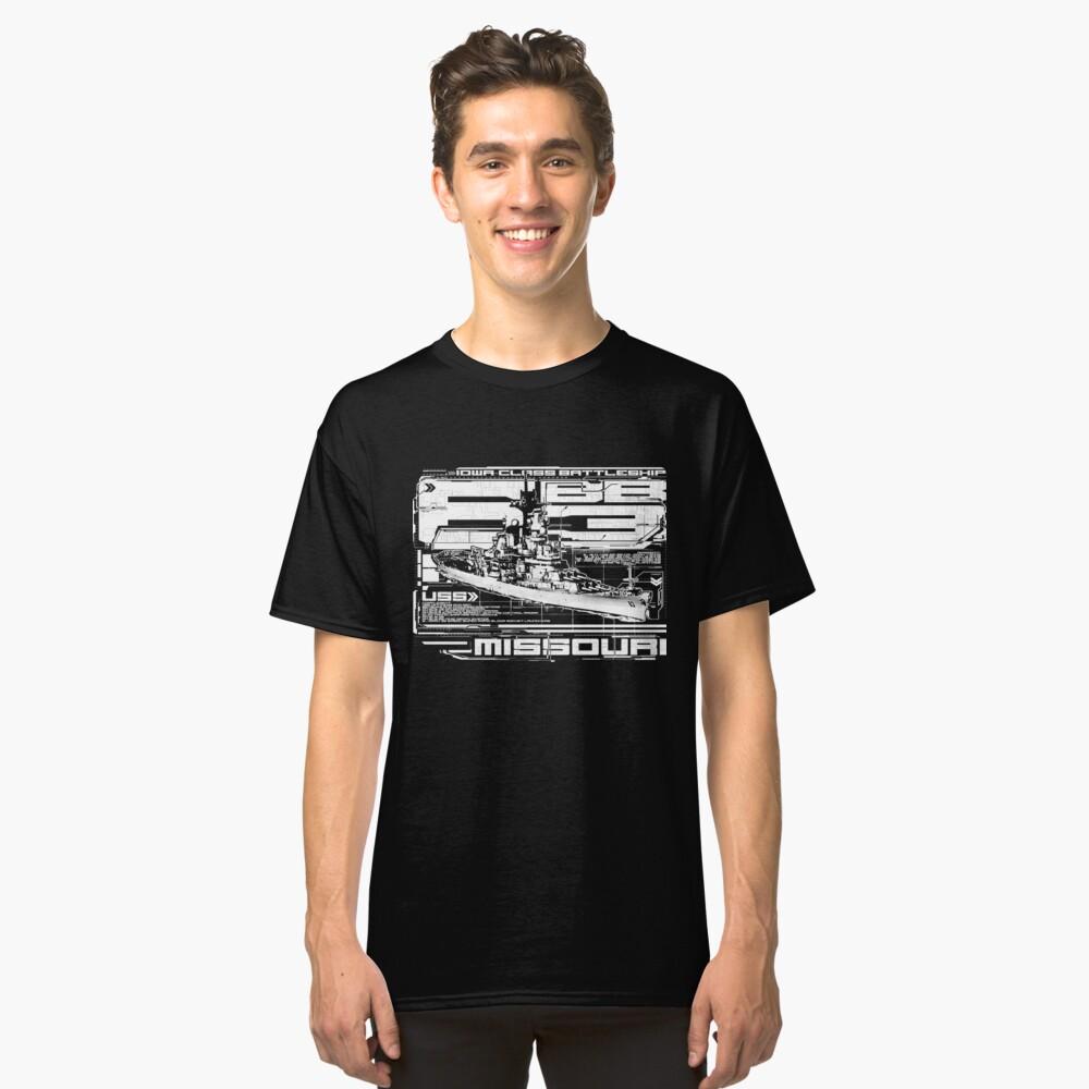 Schlachtschiff Missouri Classic T-Shirt