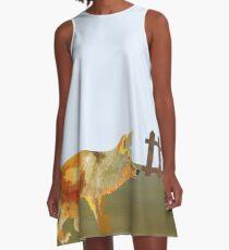 The Fox and the Vineyard A-Line Dress