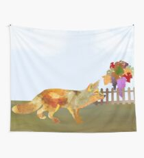 The Fox and the Vineyard Wall Tapestry