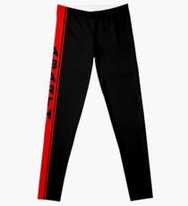 Red Abarth Stripe Leggings