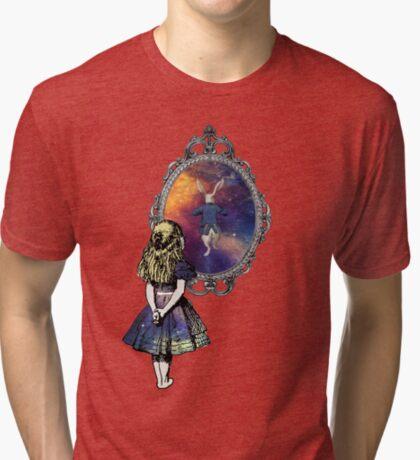 Siga el conejo blanco - Alicia en el país de las maravillas Camiseta de tejido mixto
