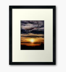 Sunday Night Sunset Framed Print