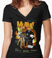 Goatess Doomwych : Mutant Scream Women's Fitted V-Neck T-Shirt