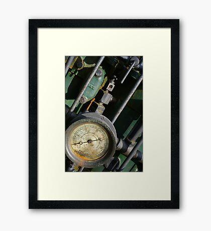 enigine guage Framed Print