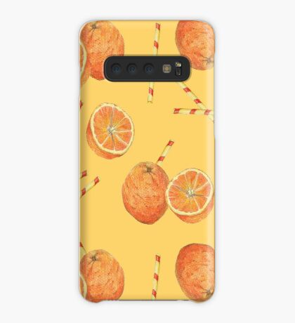 orange juice _light Case/Skin for Samsung Galaxy