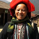 Red Dzao Hilltribe Woman - northern Vietnam by Bev Pascoe