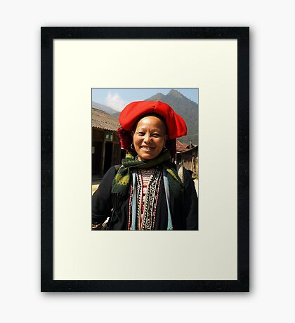 Red Dzao Hilltribe Woman - northern Vietnam Framed Print