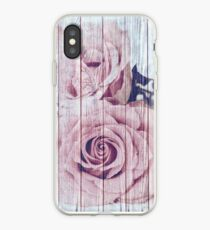 Vintage Shabby Chic Dusky Pink Rose iPhone-Hülle & Cover