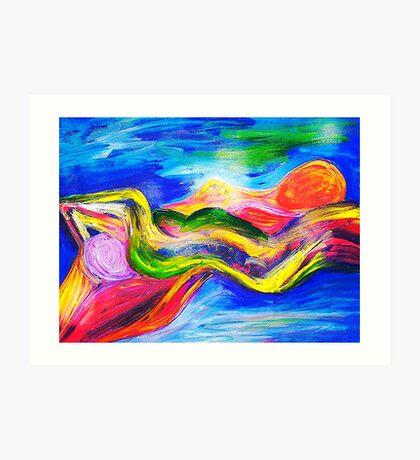 Spirits Recling Nudes Art Print