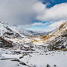 Welsh Valley Snowfall by Adrian Evans