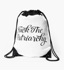 Fuck The Patriarchy Pro-Feminist T Shirt Drawstring Bag