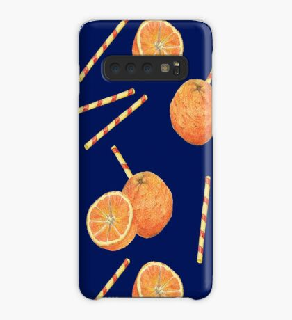 orange juice _blue Case/Skin for Samsung Galaxy