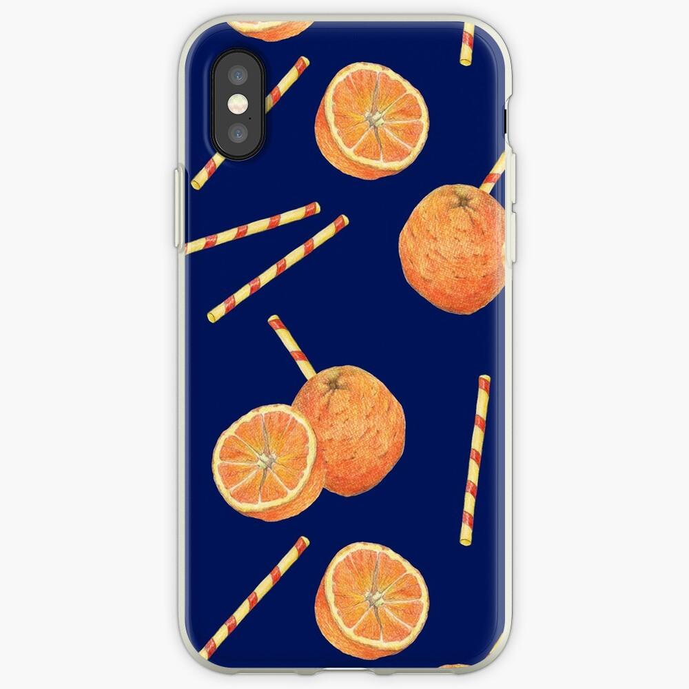 orange juice _blue iPhone Case & Cover