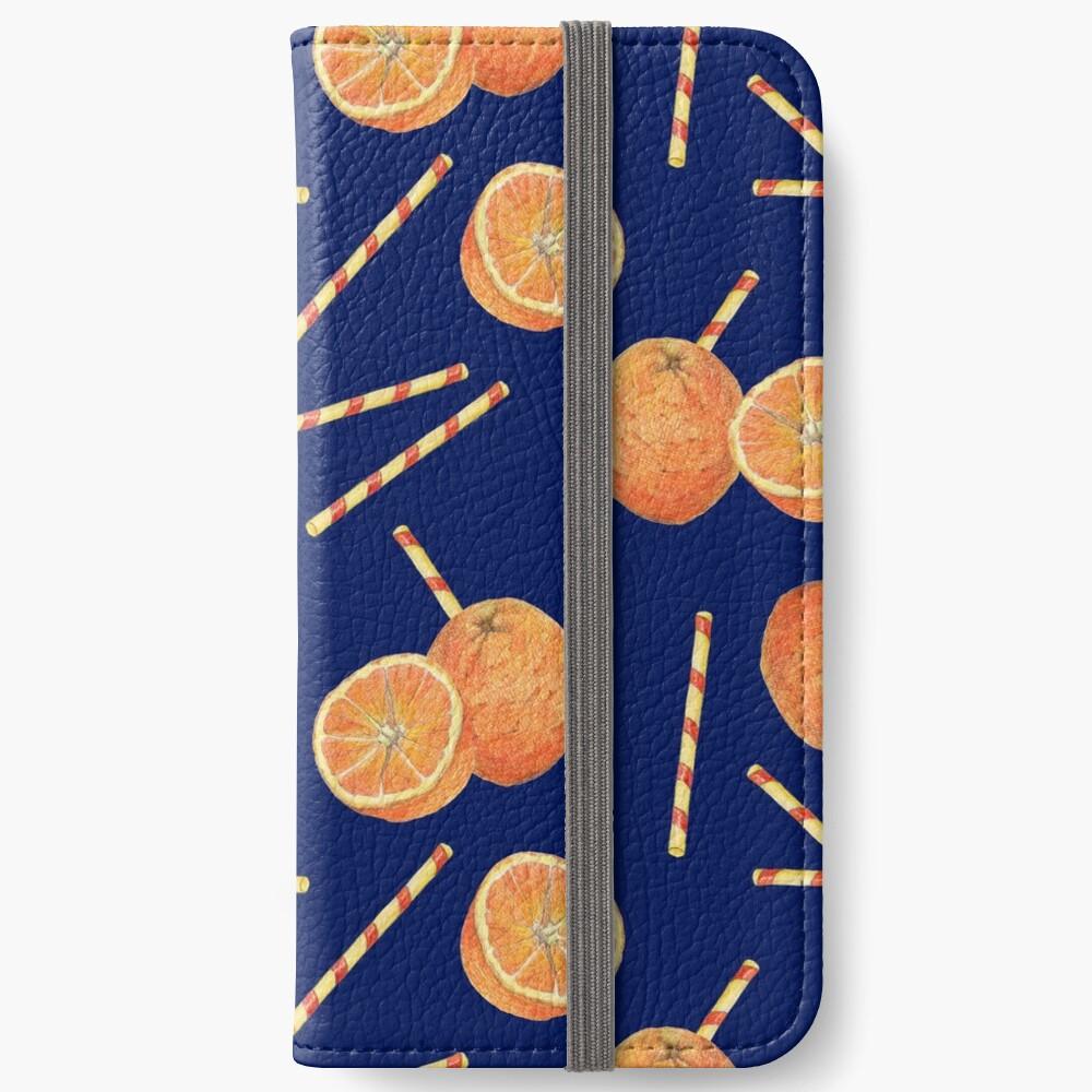 orange juice _blue iPhone Wallet