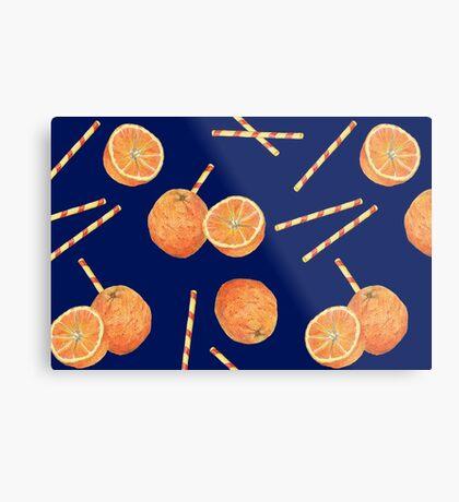 orange juice _blue Metal Print