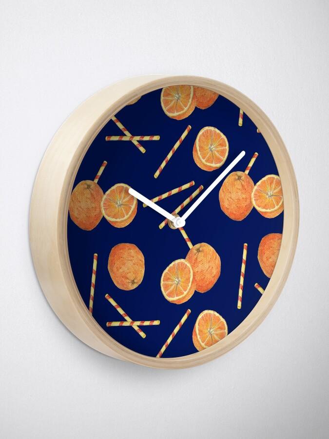 Alternate view of orange juice _blue Clock