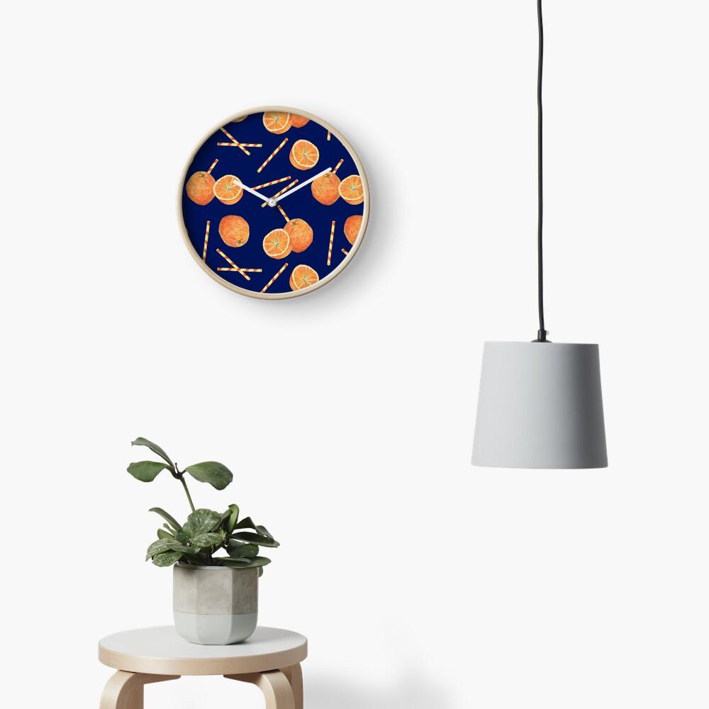 orange juice _blue Clock