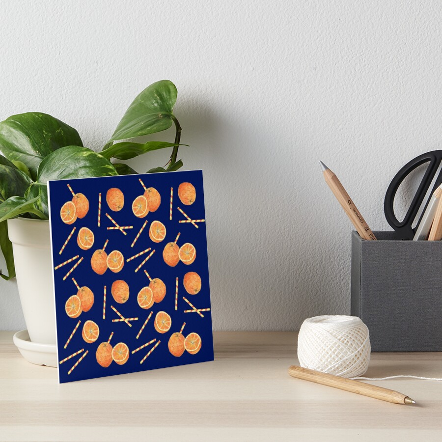 orange juice _blue Art Board Print