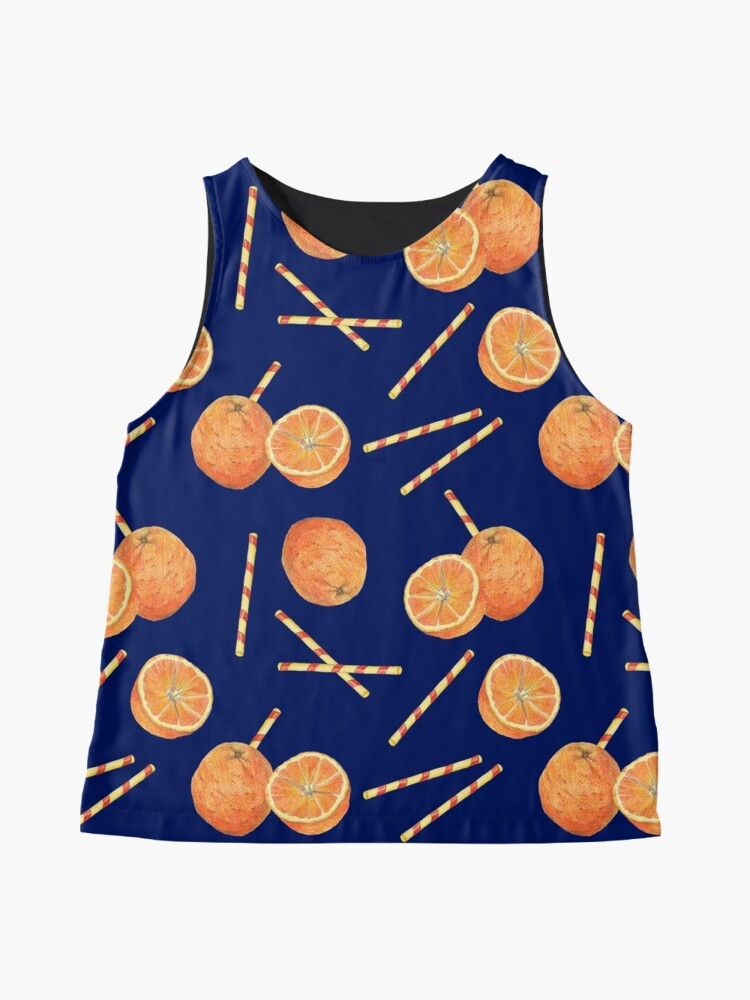 Alternate view of orange juice _blue Sleeveless Top
