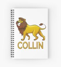Collin Lion Drawstring Bags Spiral Notebook