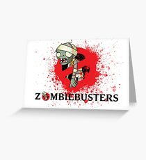 zombie busters (ghostbusters) Greeting Card