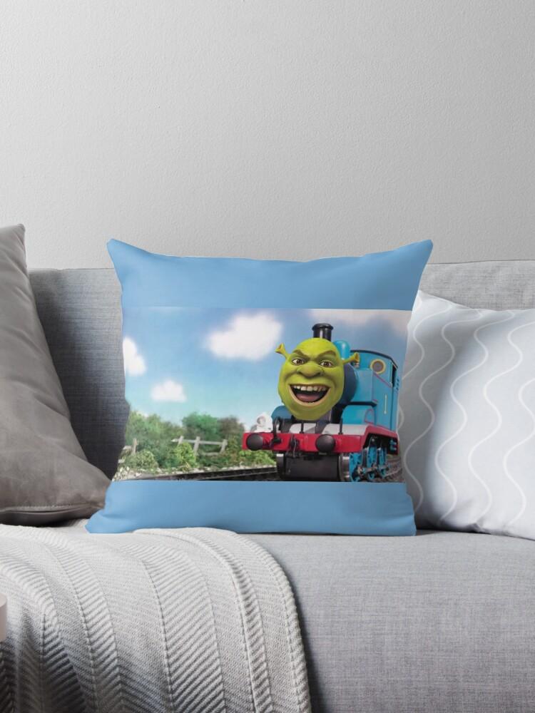 'Thomas The DANK ENGINE' Throw Pillow by JoeJoestar