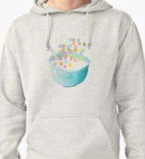 Watercolor Fruit Loops - Cereal Lover - Watercolor Food Illustration - Fruit Loops Pullover Hoodie